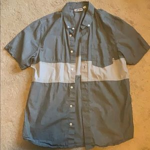 Vans short sleeve button down shirt